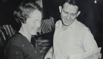 Milly and Walt Woodward at the Review 1945