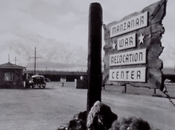 Manzanar Relocation Center Sign